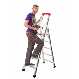 Euro-Profi Stojací rebrík s hliníkovými schodíkmi Mod. S32577
