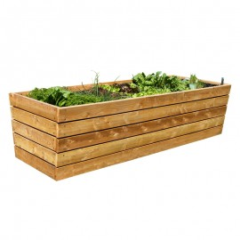 zvýšený záhon z dreva, extra masívny - rozmery: 390 x 120 x 80 cm