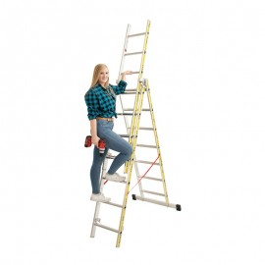 Euro-Light Viacúčelový rebrík 3-dielny mod. 207
