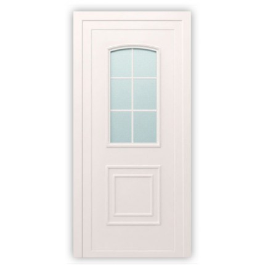 Plastové dvere / Vchodové dvere Mod. Classic 2 - 1000 x 2100 mm (šírka x výška), Doraz: vo vnútri ľavý - DIN ľavý