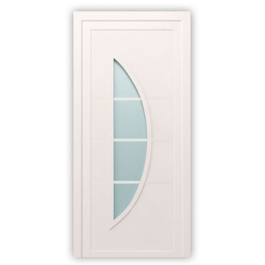 Plastové dvere / Vchodové dvere Mod. Luna 2 - 1000 x 2100 mm (šírka x výška), Doraz: vo vnútri ľavý - DIN ľavý
