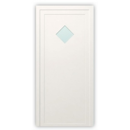 Plastové dvere / Vchodové dvere mod. STANDARD 2 - 1000 x 2100 mm (šírka x výška), Doraz: vo vnútri vpravo - DIN pravé